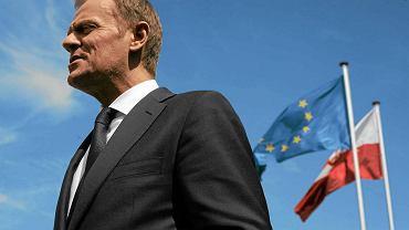 Premier Donald Tusk w Brukseli w dniu otwarcia nowej siedziby stałego przedstawicielstwa Polski przy UE,