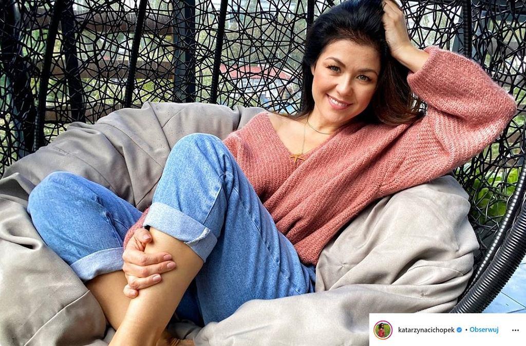 Katarzyna Cichopek udekorowała swój balkon na jesień. Fani: 'Taki balkon to można mieć'