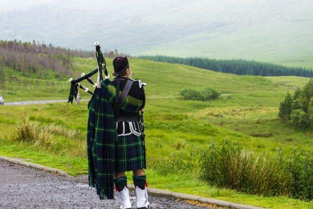 Dudziarz na wzgórzach Glencoe, Szkocja / fot. Shutterstock
