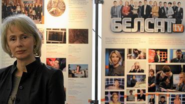 Agnieszka Romaszewska-Guzy podczas wystawy z okazji 5. rocznicy powstania telewizji Biełsat (11.12.2012)