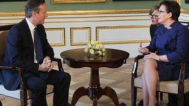 Premier Kopacz spotkała się w Warszawie z premierem Davidem Cameronem. Rozmawiali m.in. sytuacji po wyborach w Wielkiej Brytanii i możliwości wyjścia kraju z Unii Europejskiej