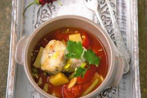 Menu dnia z zupą rybną
