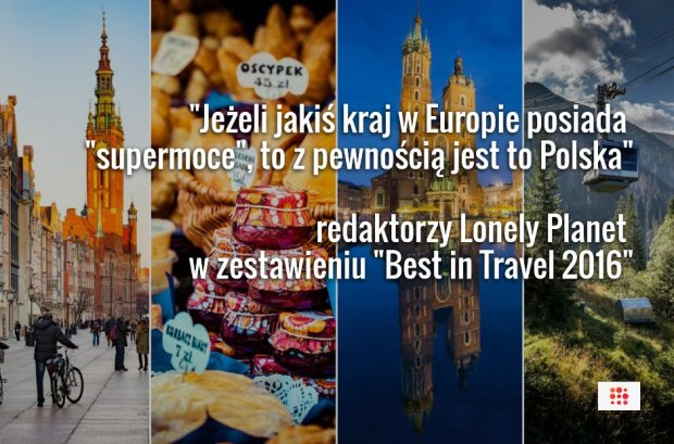 Polska na 7. miejscu w zestawieniu najlepszych kierunków na 2016 rok wg Lonely Planet