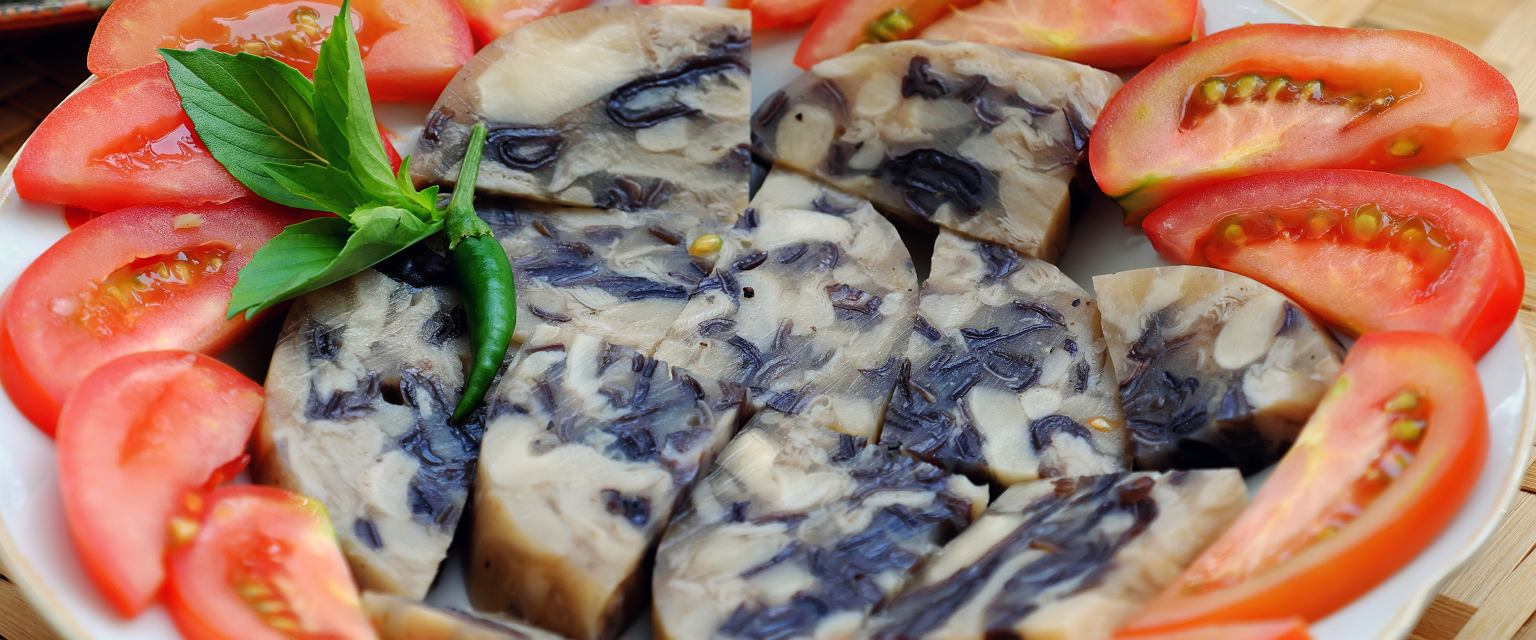 Salceson z leśnych grzybów
