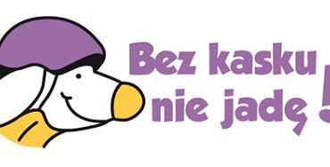 """Logo akcji """"Bez kasku nie jadę!"""""""