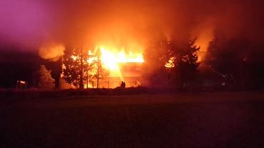 Pożar w hali