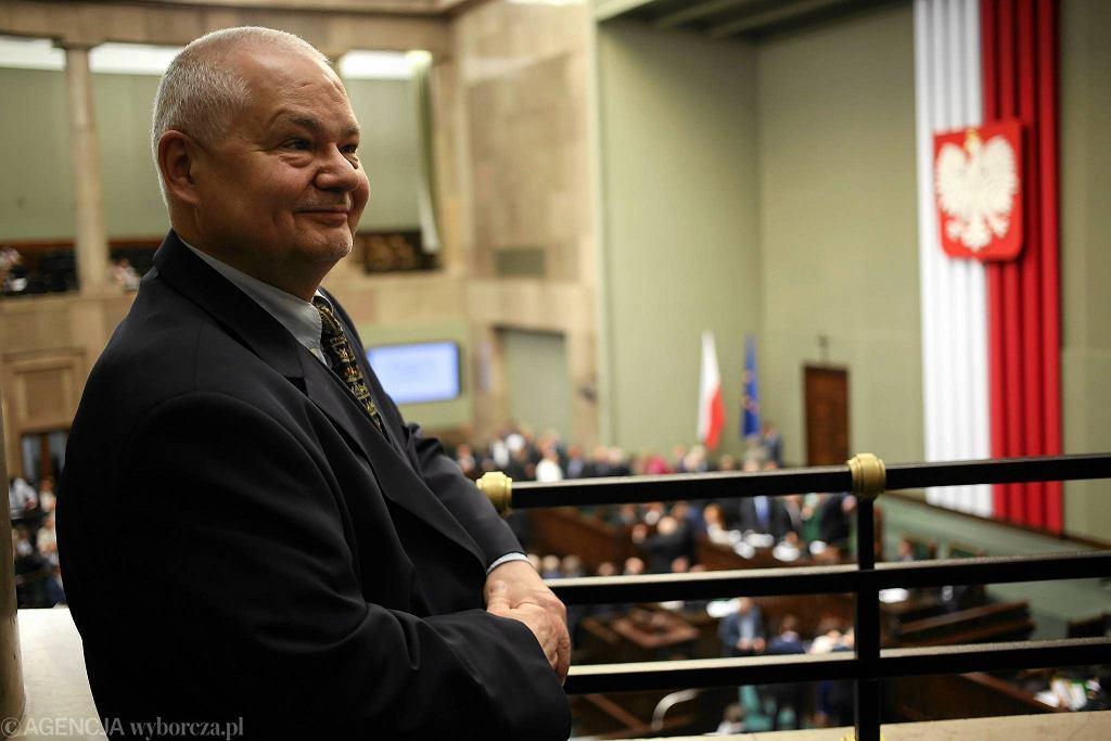 Prezes NBP Adam Glapiński na sejmowej galerii. Warszawa, 10 czerwca 2016