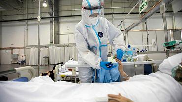 Szpital tymczasowy w czasie epidemii koronawirusa (zdj. ilustracyjne)