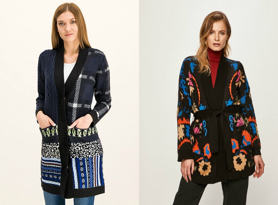 rozpinane swetry Desigual
