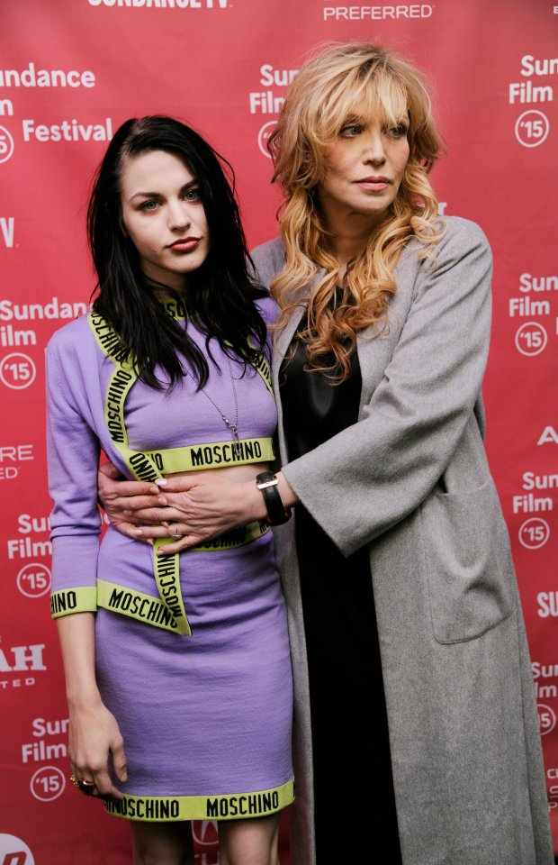 Frances Bean Cobain, left, daughter of Kurt Cobain and executive producer of the documentary film