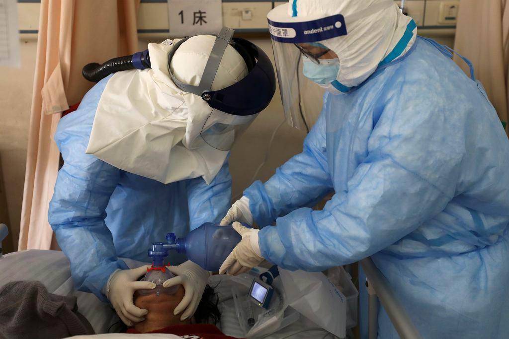 Szpital w Wuhan - Fotografia ilustracyjna