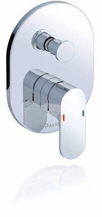Chrome, element natynkowy i podtynkowy baterii wannowej Ravak, 595 zł