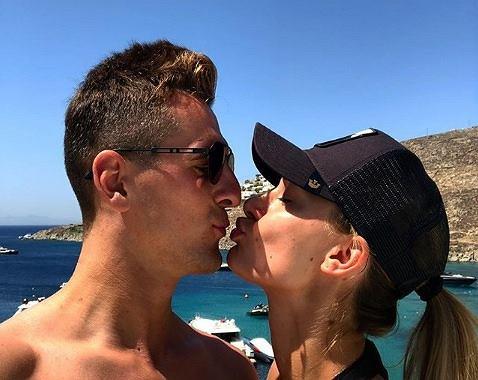 Arkadiusz Milik i Jessica Ziółek w Grecji