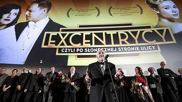 """Janusz Majewski na premierze filmu """"Excentrycy, czyli po słonecznej stronie ulicy"""". 11 stycznia, Cinema City Sadyba w Warszawie"""