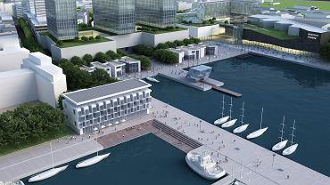 Tak wyglądała prezentowana od lat wizja władz Gdyni dot. zabudowy dawnej działki Nauty, leżącej przy ul. Waszyngtona 1. Po zakupie działki przez Port Gdynia wiadomo już jednak, że działka będzie miała inne przeznaczenie