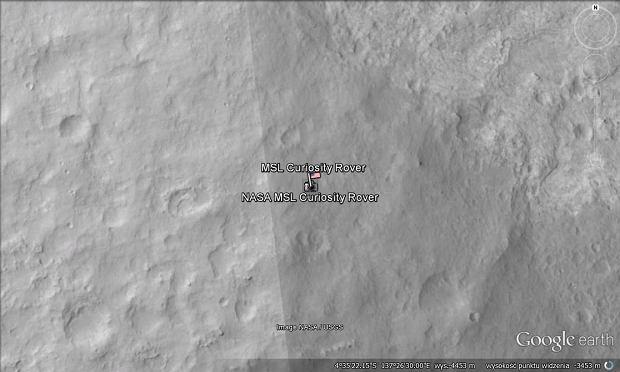 Curiosity, Mars, Google Earth