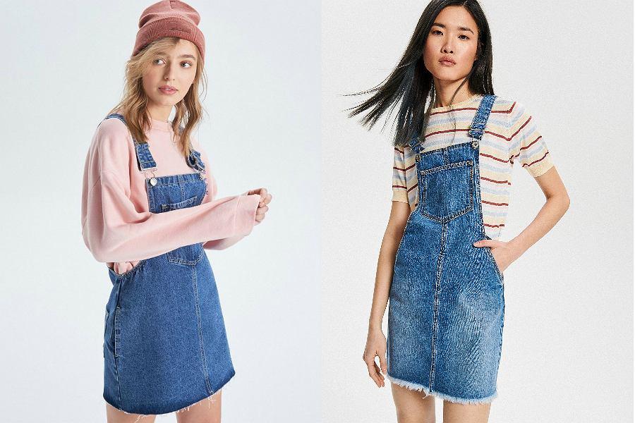 sukienki ogrodniczki jeansowe