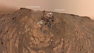 NASA. Łazik Curiosity zrobił selfie na Marsie. Później pokonał rekordowe wzniesienie