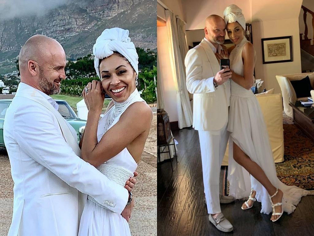 Omenaa Mensah i Rafał Brzoska świętują drugą rocznicę ślubu