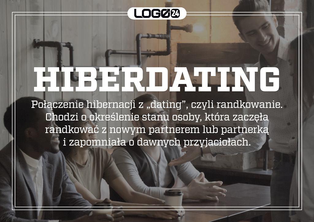 Hiberdating - połączenie hibernacji z 'dating', czyli randkowanie. Chodzi o określenie stanu osoby, która zaczęła randkować z nowym partnerem lub partnerką i zapomniała o dawnych przyjaciołach.