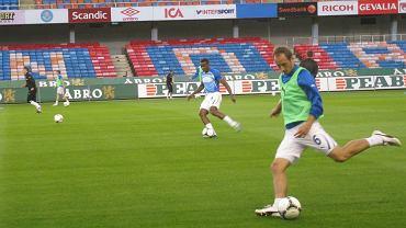 Trening Lecha Poznań przed meczem z AIK Solna - Łukasz Trałka