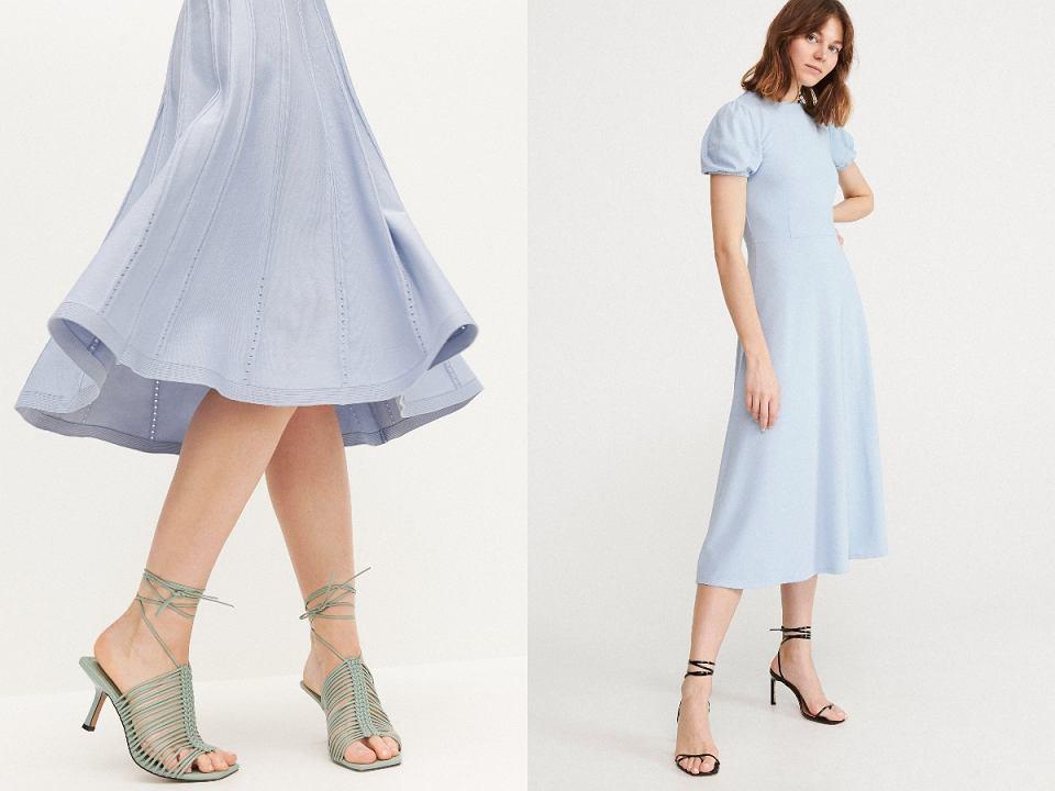 sukienki baby blue na lato