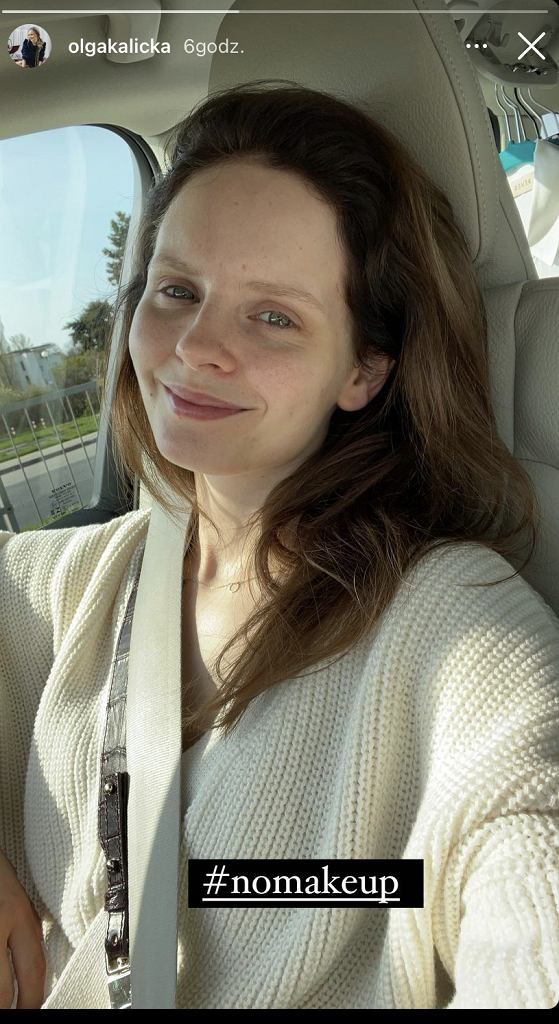 Olga Kalicka bez makijażu