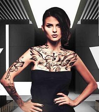 Wytatuowani Modele Na Wybiegu Tymczasowy Tatuaż Dla Każdego