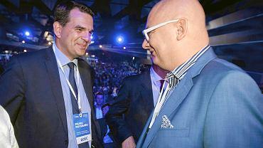 Jacek Tomczak (po lewej) może być kandydatem PSL w wyborach do Sejmu.