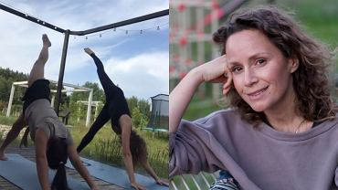 Monika Mrozowska ćwiczy jogę