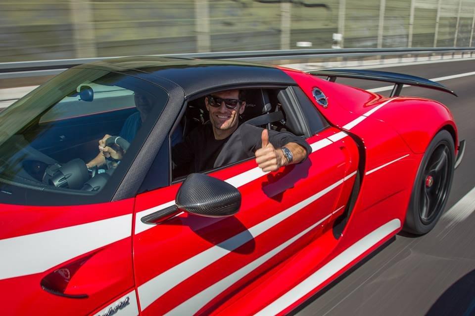 Mark Webber w Porsche 918 Spyder