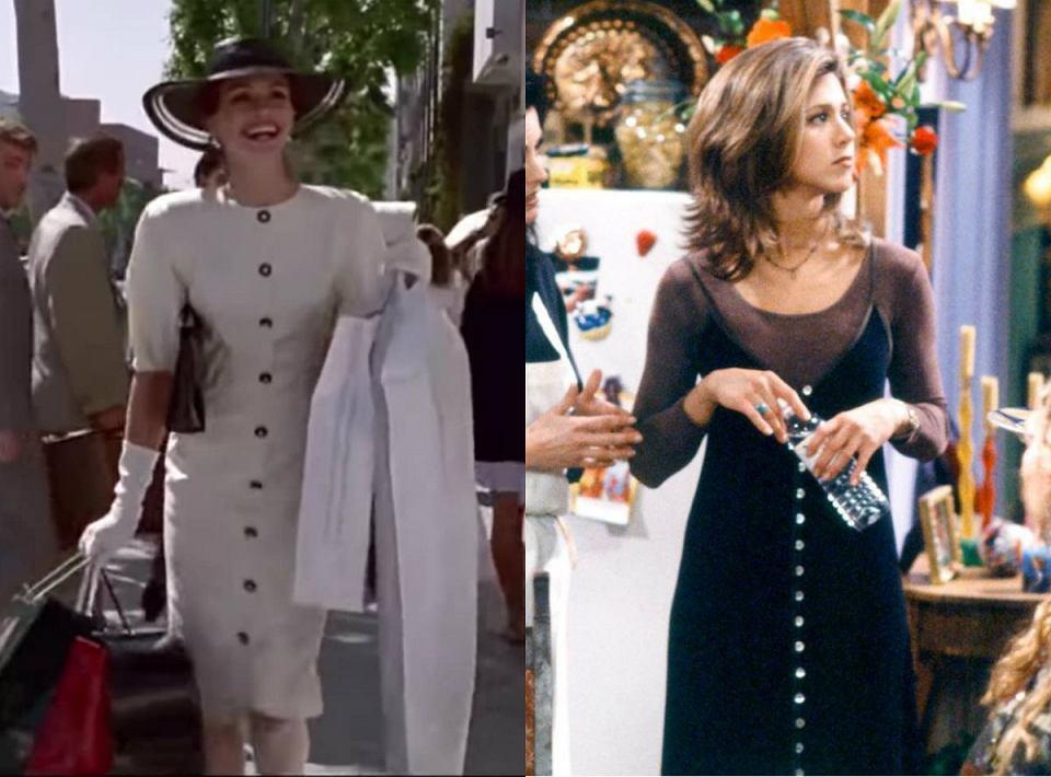 Sukienki z guzikami nosiły największe filmowe gwiazdy lat 90.