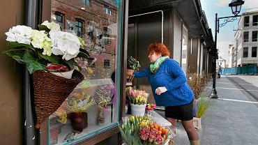 Ostatnie kwiaciarnie przy ul. Krętej w okolicy Starego Rynku