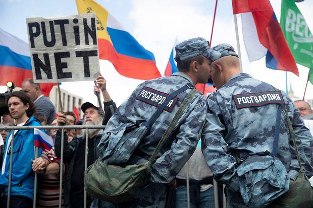 Protesty opozycji w Moskwie