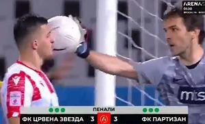 Wielka awantura z udziałem całych drużyn w finale Pucharu Serbii podczas rzutów karnych! [WIDEO]