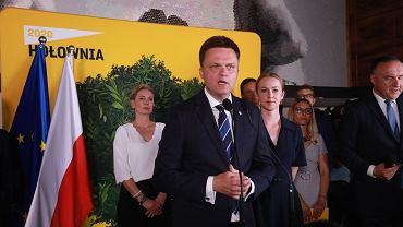 Wieczór wyborczy Szymona Hołowni w Warszawie