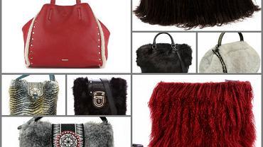 Zimowe torebki z futrem i kożuchem