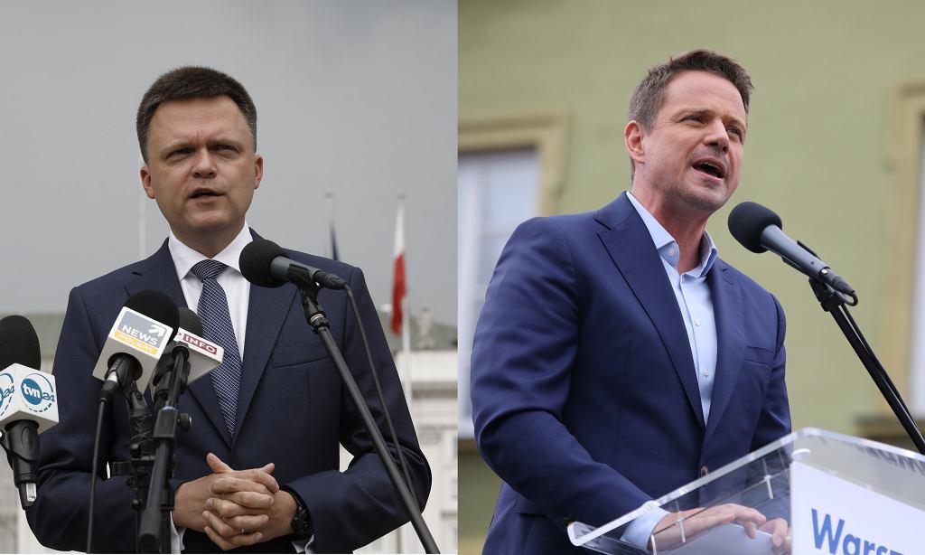 Hołownia i Trzaskowski
