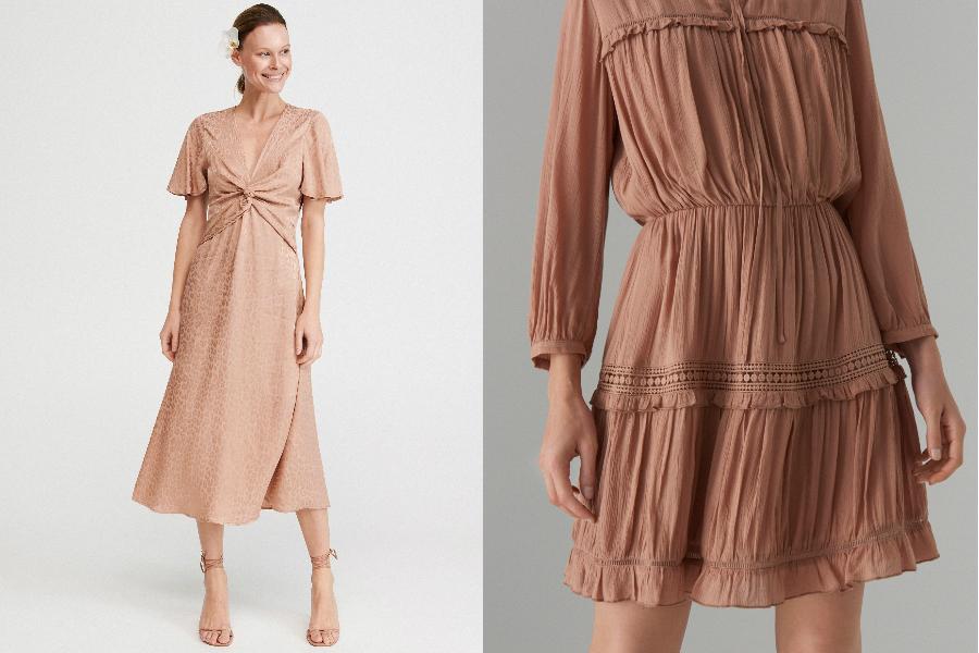sukienki z marszczeniami