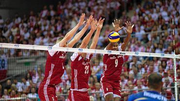 Ergo Arena. Turniej kwalifikacyjny siatkarzy do igrzysk olimpijskich w Tokio 2020. Polska - Francja 3:0