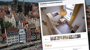 Gdańsk. 12-metrowa kawalerka na wynajem za 1500 zł