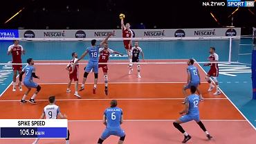 Kamil Semeniuk podczas meczu Polska - Argentyna w Lidze Narodów 2021