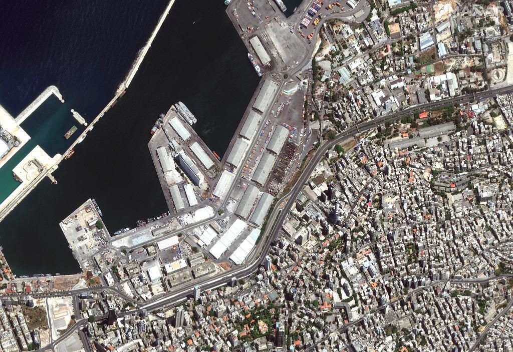 Port w Bejrucie - zdjęcie przed eksplozją