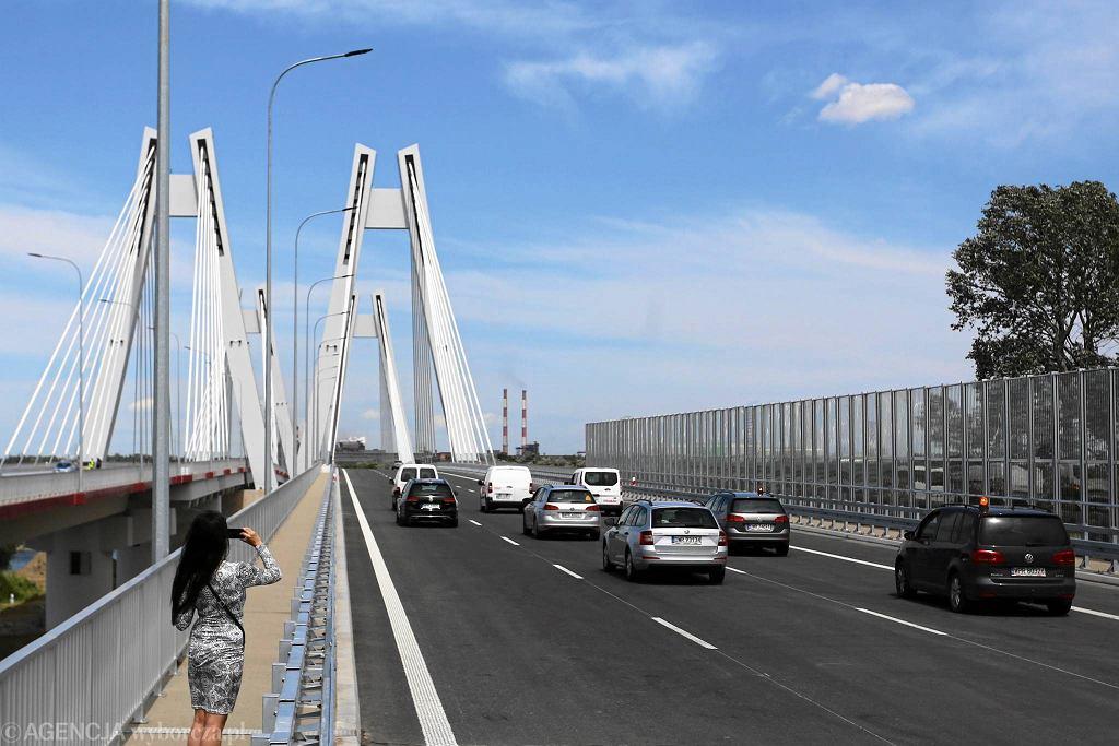 Otwarcie nowego mostu na drodze ekspresowej S7