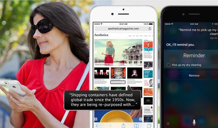 Apple tworzy swoje systemy tak, by były uniwersalne, dostępne dla każdego