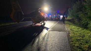 Policjanci z Gliwic wyjaśniają dokładne okoliczności i przyczyny wypadku, do którego doszło na drodze krajowej nr 88