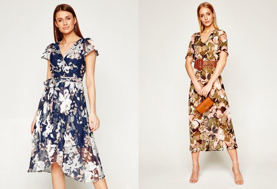 wzorzyste sukienki midi