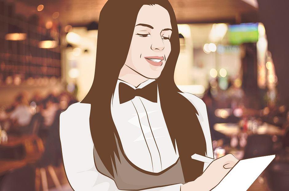Gość narzekał: 'Kelnerka była za mało szczęśliwa'.