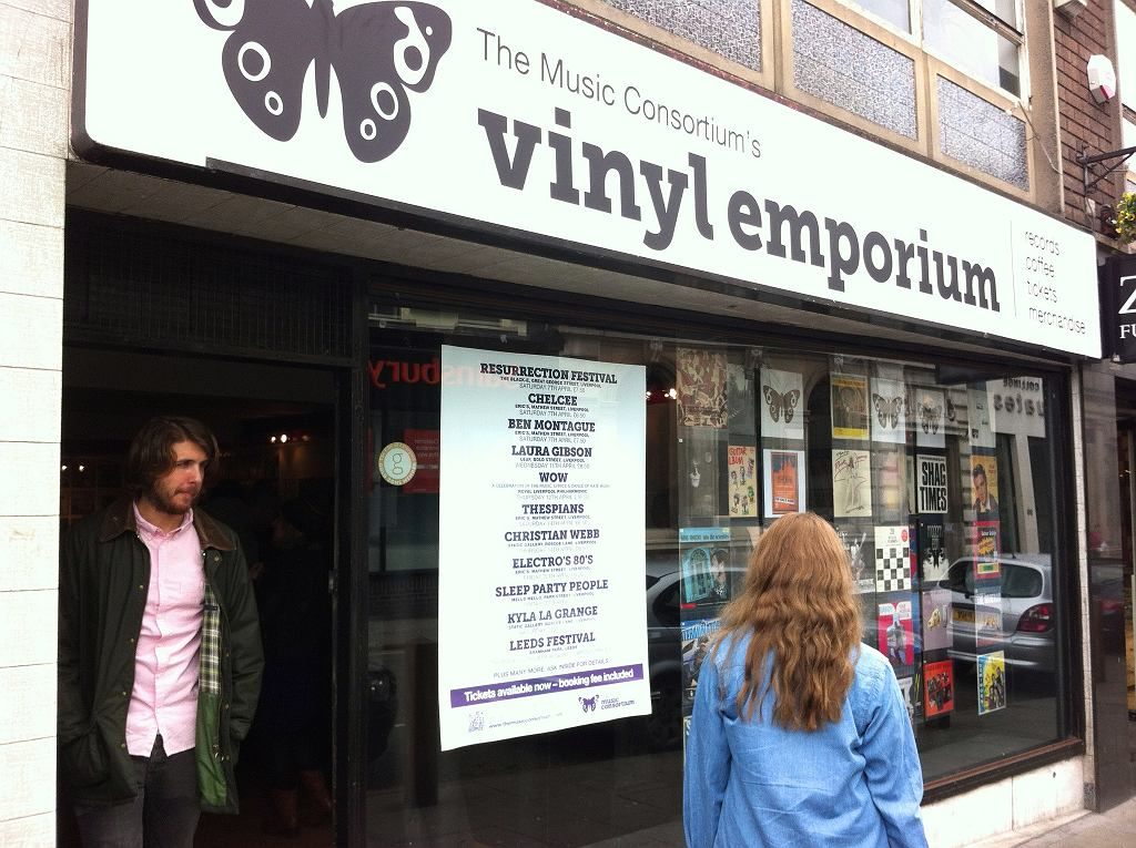 Sklep z płytami w Liverpoolu