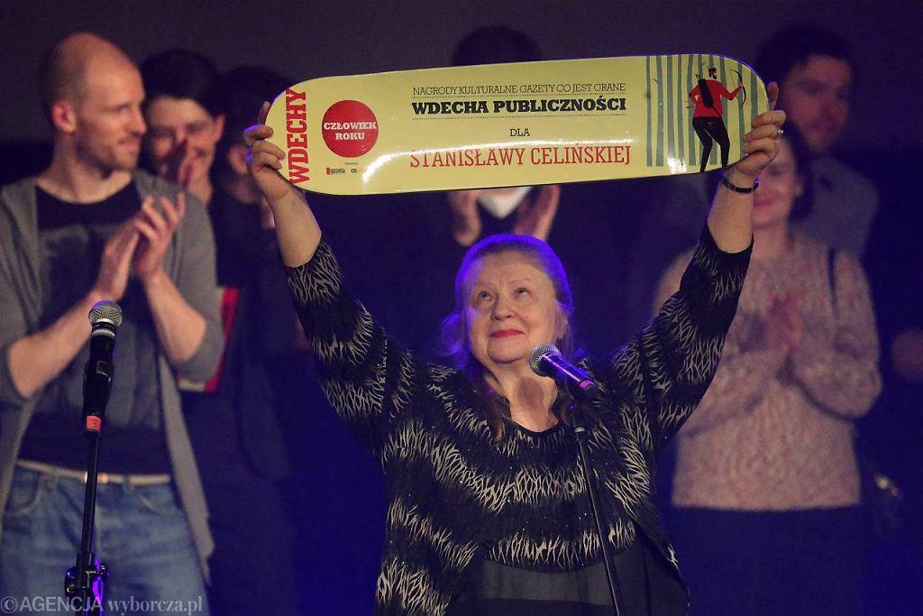 Gala rozdania Wdech 2012 - Stanisława Celińska z Wdechą Publiczności / Fot. Kuba Atys / Agencja Gazeta
